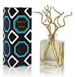 Holiday Frosted Mint Reed Diffuser Oil with Curly Bamboo Reed Sticks | Bergamot, Eucalyptus, Sparkling Icicle, Thyme, Basil, Iris, Amber, Cedarwood and Musk