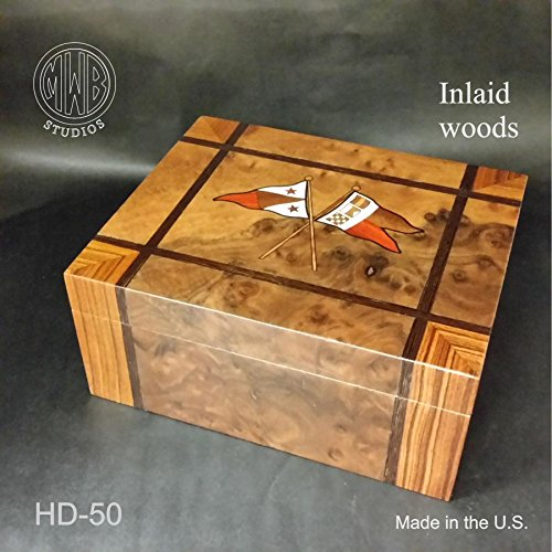 Humidor Handcrafted in the U.S.(Flags)