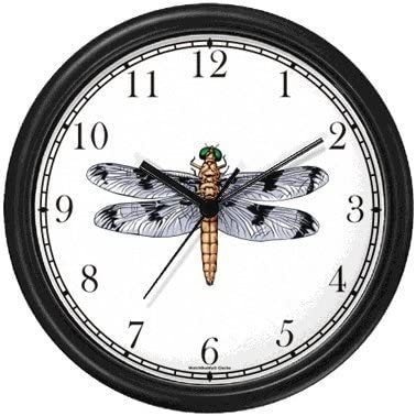 Dragonfly or Dragon Fly Insect – Animal Wall Clock by WatchBuddy Timepieces Black Frame