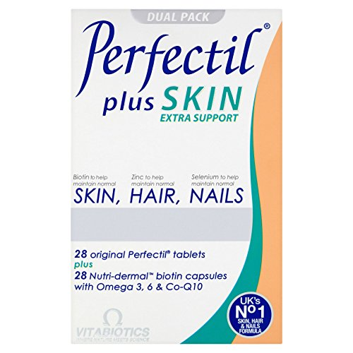 4 Units (Bulk Pack) Vitabiotics Perfectil Plus Skin Extra Support Dual Pack 56 Tablets/Capsules