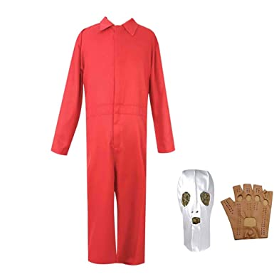 2019 Horror Film US Costume Red Jumpsuit Cosplay Adelaide Wilson ...