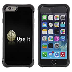 Hybrid Anti-Shock Defend Case for Apple iPhone 5s Inch / Use Your Brain