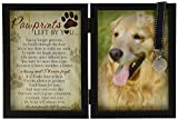 Pawprints Memorial Pet Tag Frame - Pawprints Left By You
