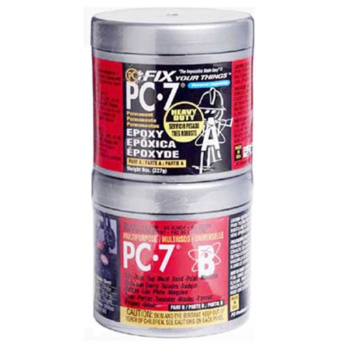 PC Products PC-7 Epoxy Adhesive Paste, Two-Part Heavy Duty, 1/2lb in Two Cans, Charcoal Gray 87770 (Best Adhesive For Aluminum To Steel)