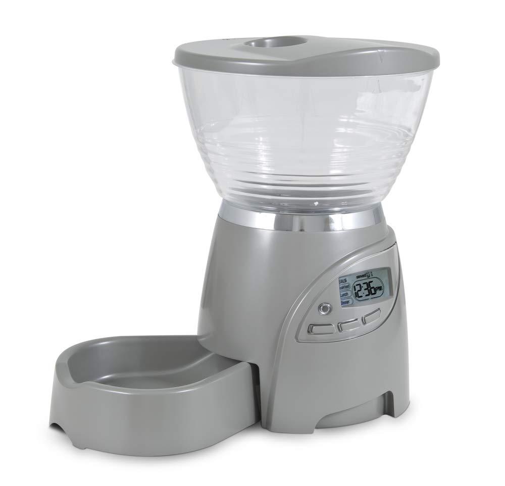 Petmate 24656 Comedero Programable Le Bistro, 2.27 kg, Gris: Amazon ...