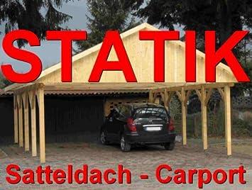 Statik berechnung satteldach carports breite: 8 00 m 1 30 kn
