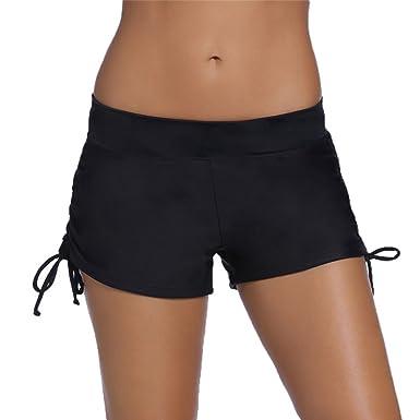 8828475456fb7 Short De Bain Femme Bikini Short De Plage Short De Sport Bas De Maillot De  Bain: Amazon.fr: Vêtements et accessoires