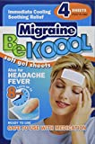 Be Koool Gel Sheets for Adults Migraine, 4 Count (Pack of 3)