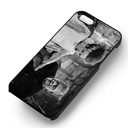 Chic Frankenstein et Bride classic pour Coque Iphone 7 Case (Noir Boîtier en plastique dur) Y1H9GD