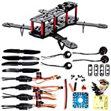 XCSOURCE 4-Axis 250 3K Carbon Fiber FPV Quadcopter Kit Combo CC3D Motor 12A ESC RC005