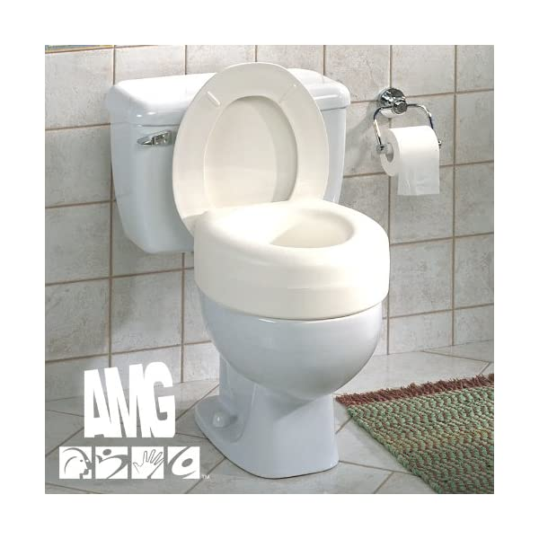 Superb Aquasense Portable Raised Toilet Seat White 4 Inches Theyellowbook Wood Chair Design Ideas Theyellowbookinfo