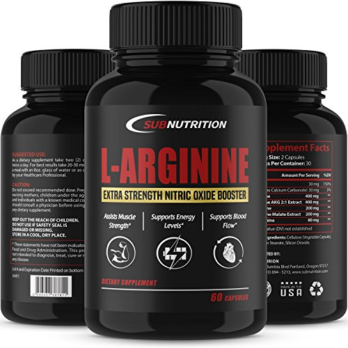 Strength L Arginine L Citrulline Supplement 1340mg