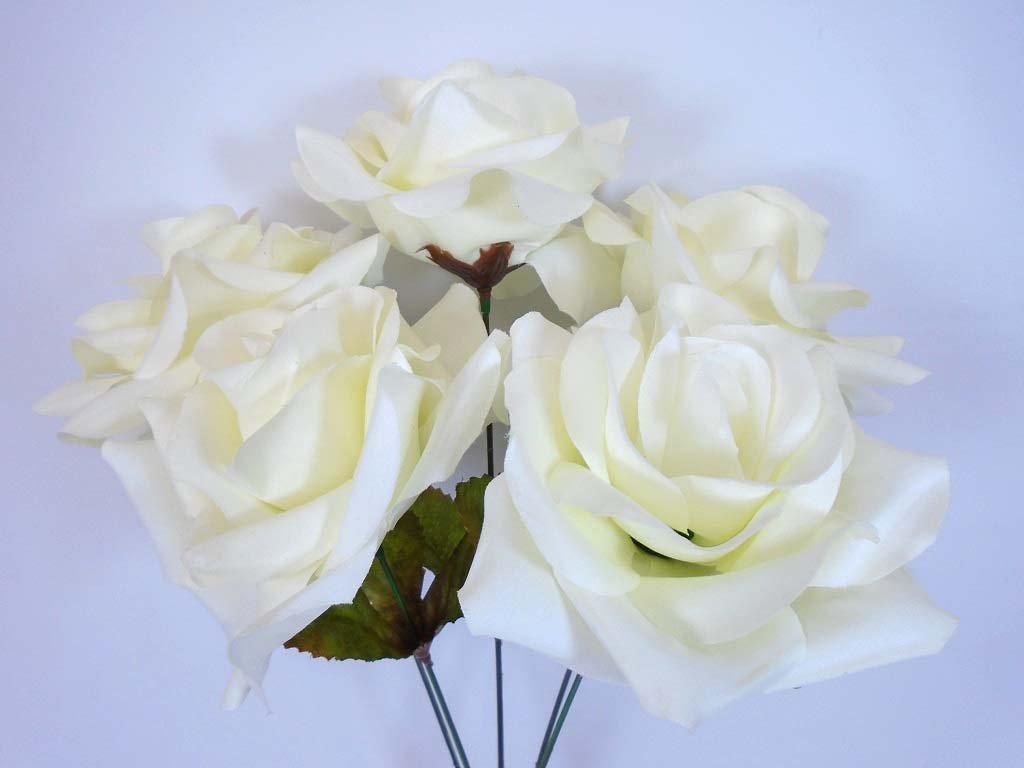 Burgundy silk roses amazon phoenix silk 2 bushes open rose 5 artificial silk flowers 14 bouquet 1171 burgundy izmirmasajfo