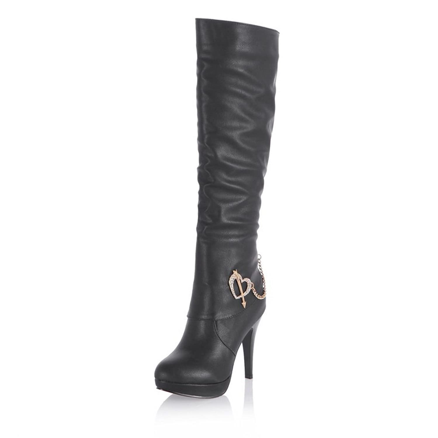1TO9 Womens Pull-On European Style Stiletto Soft Material Boots