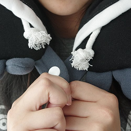 Panda Hooded Animal Plush Neck Pillow, Microbeads for Comfort with Adjustable Drawstring, Perfect For Airplane Travel, Neck Support, as a Panda costume, Gift for Panda Lovers, Designed In Japan by Chibiya (Image #2)