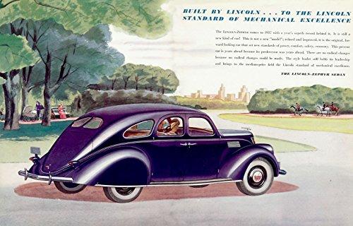 8 x 10 Tin Sign 1937 Lincoln Zephyr V-12 Folder-02