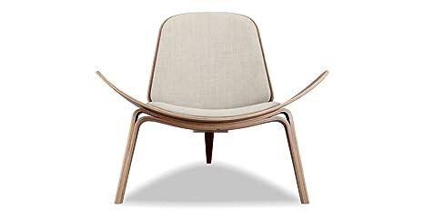 Marvelous Kardiel Tripod Plywood Modern Lounge Chair Urban Hemp Twill Walnut Andrewgaddart Wooden Chair Designs For Living Room Andrewgaddartcom