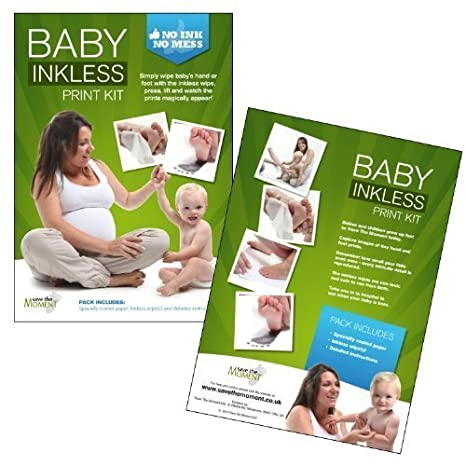 DELUXE Inkless Wipe Hand /& Foot Print Kit 3 Large Papers /& 2 Wipes IDEAL GIFT!
