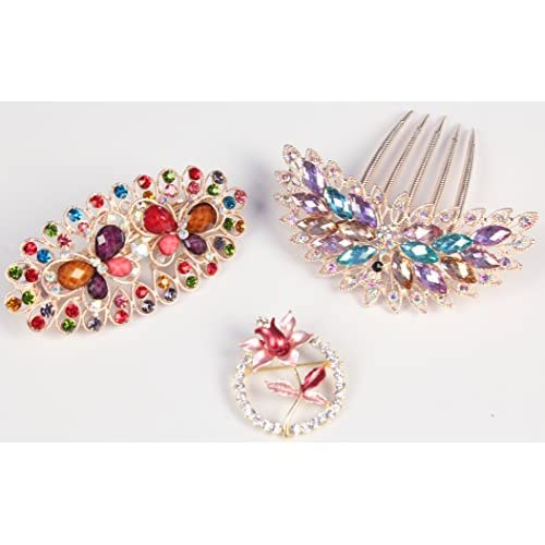 8693c623c6e3e LUXEHOME Styling Tools Cute Lovely Rhinestones Hair Clip Hairpin ...