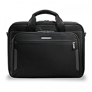 87cd22cc9379 Amazon.com | Briggs & Riley Luggage Medium Brief, Black | Briefcases