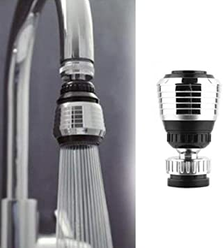 Kitchen Sink Water Tap Bubbler 360 Swivel Faucet Nozzle Diffuser Filter Adapters
