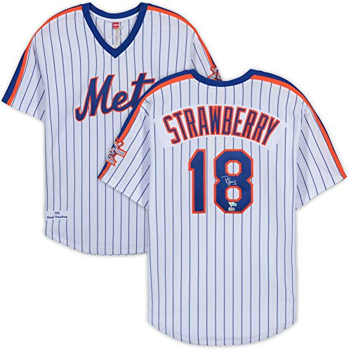 Darryl Strawberry New York Mets Autographed Mitchell and Ness White 1986 World Series Jersey - Fanatics Authentic Certified ()
