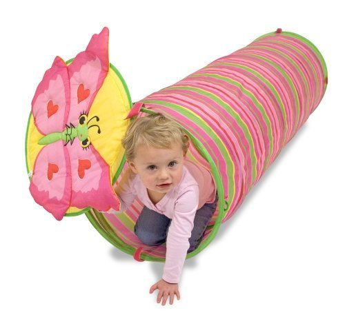 2 Item Bundle  Melissa   Doug 6200 Bella Butterfly Play Tunnel   Free Gift