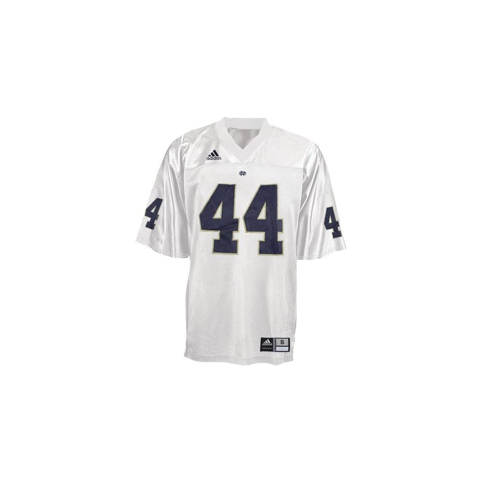 NCAA adidas Notre Dame Fighting Irish #44 White Replica Football Jersey