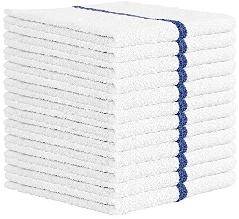 Nabob Wipers Kitchen Bar Mop Towels 12 Pack – 100% Cotton – Size 14×17 – Perfect for Your Home, Kitchen, Bathroom, Bars, Restaurants & Auto – Super Absorbent
