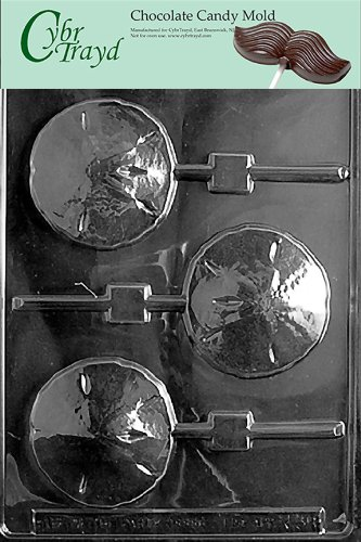 Cybrtrayd N038 Sand Dollar Lolly Chocolate Candy Mold with Exclusive Cybrtrayd Copyrighted Chocolate Molding Instructions