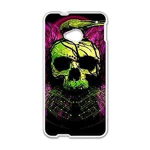 Green bird and skull Phone Case for HTC One M7 wangjiang maoyi