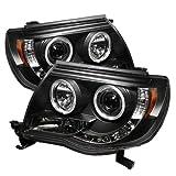 Spyder Auto Toyota Tacoma Black Halogen LED Projector Headlight