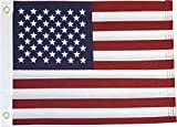American 12x18in Grommeted Embroidered Flag