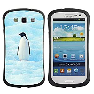 Stuss Case Hybrid PC + TPU Anti-Shock Case for Samsung Galaxy S3 - Cool Penguin