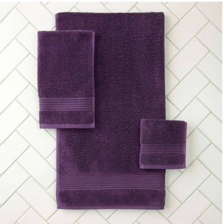 Better Homes And Gardens Extra Absorbent Bath Towel Collection Eggplant Food Beverages