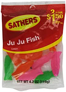 Farley's & Sathers Candy, Ju Ju Fish, 4.2 Ounce (Pack of 12)
