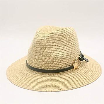 Gorra Negra para Hombre Sombrero de Paja Gorra para el Sol ...