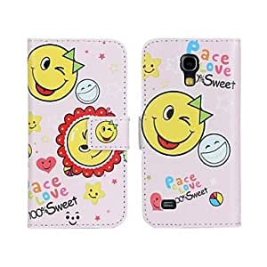 GJY Peace Love PU Leather Full Body Case with Stand and Card Slot for Samsung Galaxy S4 Mini I9190