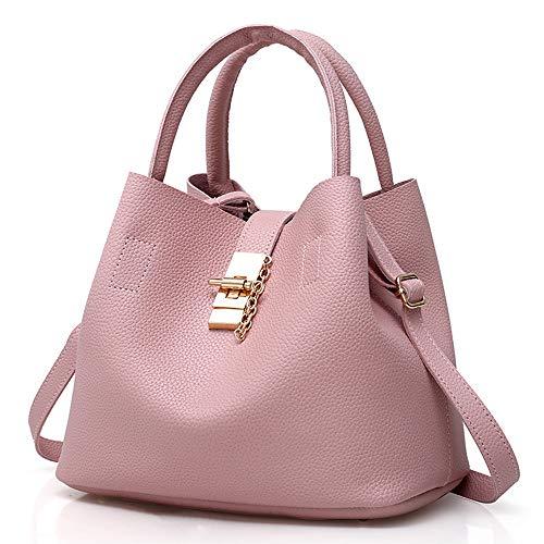 DZTZ Handbags for Women Women's Shoulder Bags PU Leather Hobo Handbags Top-Handle Purse for Ladies (Pink)