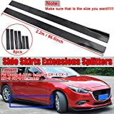 ZEEOS Universal PP Black Side Skirts Extension