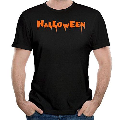 Liulifu HALLOWEEN PUMPKIN PARTY HORROR Shirts Mens Cotton Short Sleeve (Creepy Halloween Food Names)