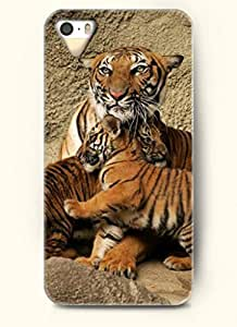 OOFIT Phone Case Design with Tiger Mother and its Little Baby for Apple iPhone 5 5s