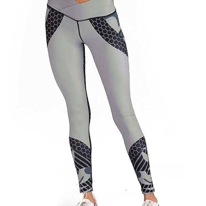ca811931c55e7 TOOGOO OL Impreso Yoga Leggings Mujeres Pantalones Deportivos Gimnasio  Transpirable Gimnasio Ropa de Secado rapido Pantalones