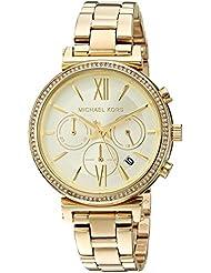 Michael Kors Womens Sofie Analog Display Analog Quartz Gold Watch MK6559