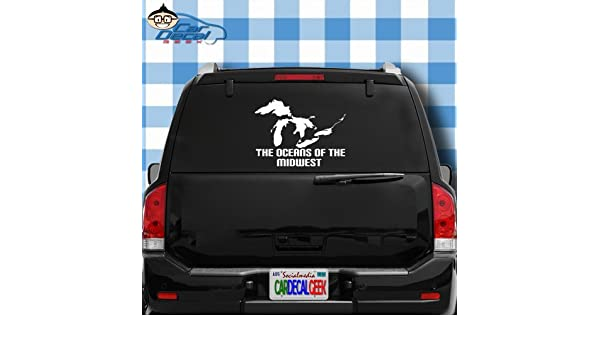 3 Inch GREAT LAKES MICHIGAN ERIE SUPERIOR HURON MIDWEST DECAL Sticker Truck Car