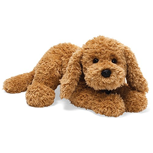 GUND Muttsy Dog Stuffed Animal Plush, Beige, - Toy Dog Gund White