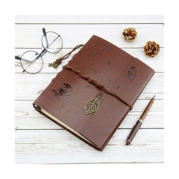 VEESUN Diario di Viaggio A5, Taccuino Vintage in Pelle Blank Notebook Travel Diario, Creative Ricaricabile Journal… 2 spesavip