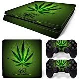 MODFREAKZ™ Console and Controller Vinyl Skin Set - Weed Leaf Light for PS4 Slim