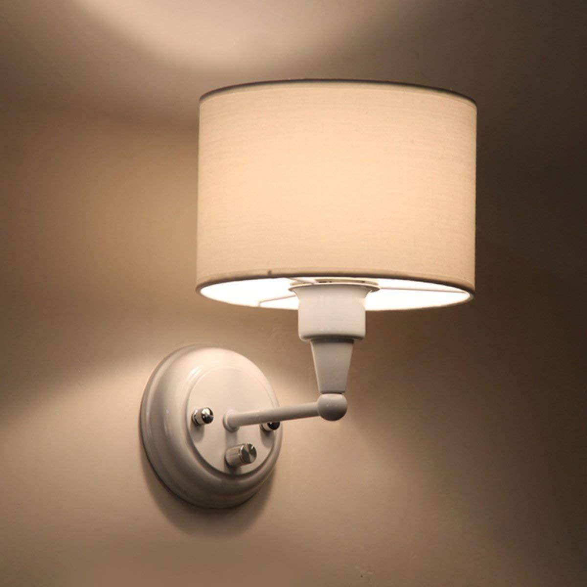 AOXISHIYE ウォールライト現代のシンプルなファッションウォールランプリビングルームの寝室クリエイティブリネン暖かいウォールランプ調光ベッドサイドランプウォールランプ B07S7N8WXZ