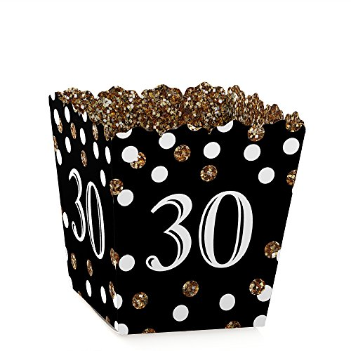 Adult 30th Party Favors Birthday Gold Candy Boxes Set Of 12 NEW NO